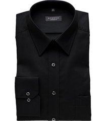 eterna overhemd zwart regular fit strijkvrij