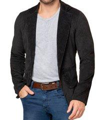 blazer mario negro para hombre croydon