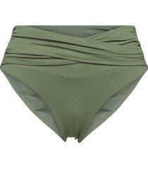seafolly high waist wrap front pant bikinitrosa grön seafolly