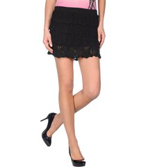 miss sixty rokje/top - giuliet knit skirt - zwart / black
