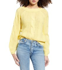 women's vero moda alli v-back cable sweater