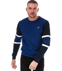 mens striped sleeves fleece sweatshirt