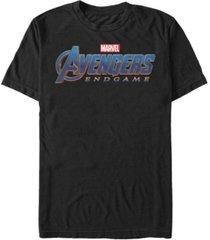 marvel men's avengers endgame logo short sleeve t-shirt