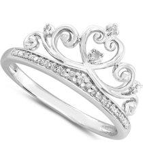 diamond tiara ring (1/10 ct. t.w.) in sterling silver