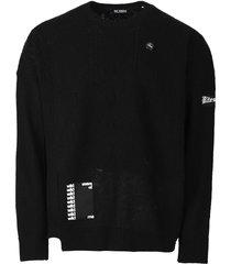 oversized reversed braid relief sweater,