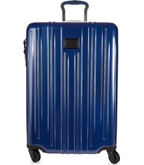 tumi short trip expandable hard shell suitcase - deep blue