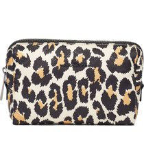 marc jacobs beauty leopard print cosmetic bag - white