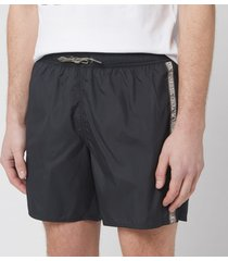 emporio armani men's logo tape boxer swim short - nero - 50/m