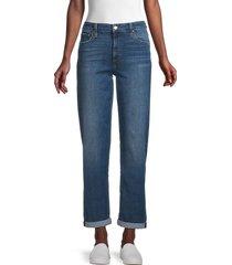 joe's jeans women's niki cropped rolled-cuffs boyfriend jeans - blue - size 26 (2-4)