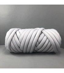 500g chunky hilado diy hace punto de punto manta suave línea gruesa de algodón banda de ganchillo - gris claro