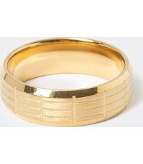 river island mens gold colour lined ring