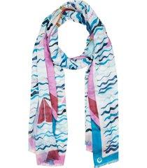 women's kate spade new york boats oblong scarf, size one size - ivory