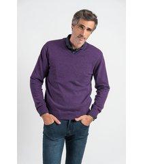 sweater violeta oxford polo club jaguar