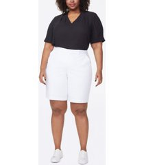 plus size bermuda shorts in stretch twill