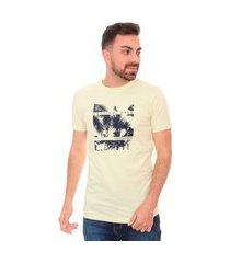 camiseta calvin klein masculina tropical area amarela