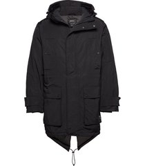 all weather parka parka jacka svart wesc