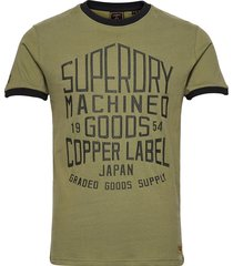 workwear ringer tee 220 t-shirts short-sleeved grön superdry