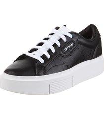 zapatilla  negra  adidas originals sleek super