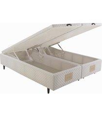 base cama box baú queen herval idea, 46x158x198 cm, branco