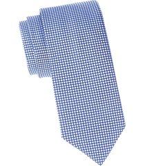 eton men's circle-print silk tie - blue