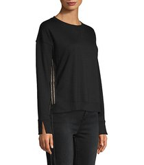 dropped-shoulder pullover sweatshirt