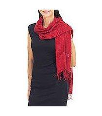 silk scarf, 'summer ruby' (thailand)