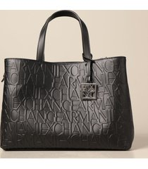 armani exchange tote bags armani exchange shoulder bag in synthetic leather with logo