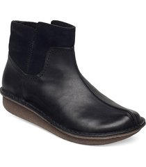 funny mid shoes boots ankle boots ankle boot - flat svart clarks