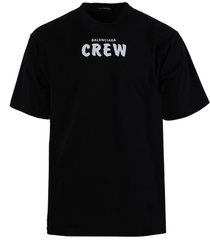 black crew logo cotton t-shirt