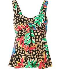 eva ave do paraíso silk blouse - multicolour