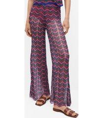 mango women's openwork knit pants