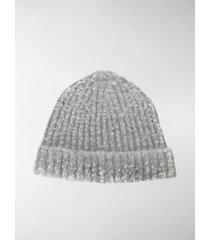 maison margiela four-stitch ribbed-knit beanie