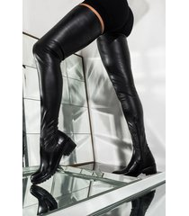 akira azalea wang smitten over you thigh high flat boot