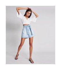 lez a lez - shorts califórnia com cinto jeans