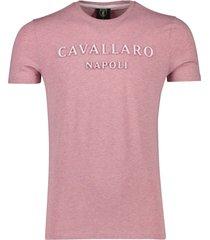cavallaro miraco tee roze gemeleerd t-shirt