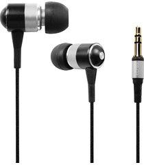 audífonos bluetooth, es-q3 universal 3.5mm con cable super bass altavoz de auriculares intrauditivos (plata)