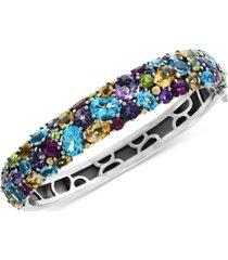 effy multi-gemstone (25-1/2 ct. t.w.) bangle bracelet in sterling silver