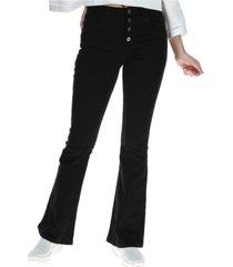 jeans high waist flare negro cat
