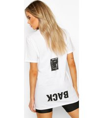 back print oversized t-shirt, black