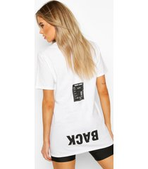 back print oversized t-shirt