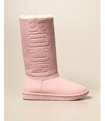gcds boots gcds boot in suede fabric