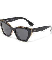 angular frame acetate sunglasses