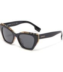 angular frame acetate sunglasses