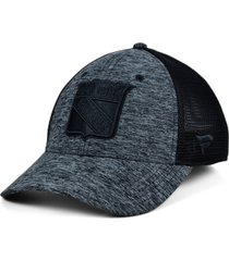 authentic nhl headwear new york rangers 2020 tnt black ice mesh flex cap