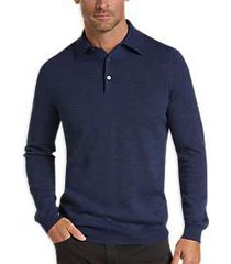 joseph abboud blue polo collar sweater