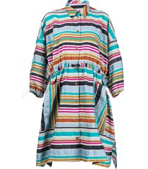 henrik vibskov toggle fastened shirt dress - blue