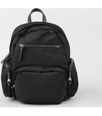 mochila feminina média com bolsos preta