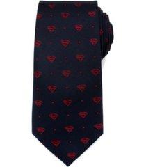 dc comics superman shield dot men's tie