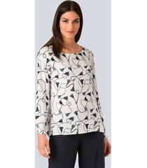blouse alba moda offwhite::marine