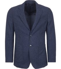 hackett loneon blue textured geo blazer 442206r